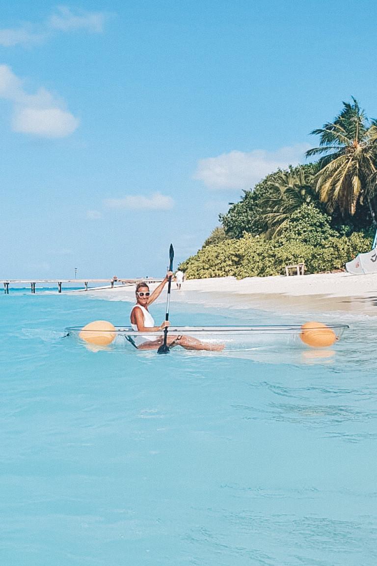 Kayaking at Soneva Fushi