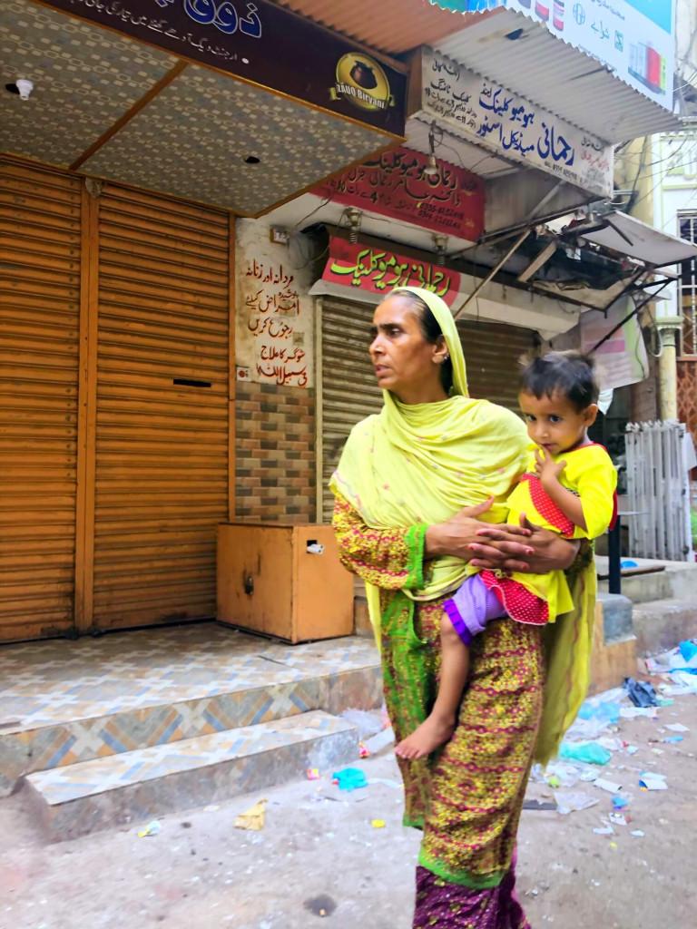 Mum and baby, Karachi