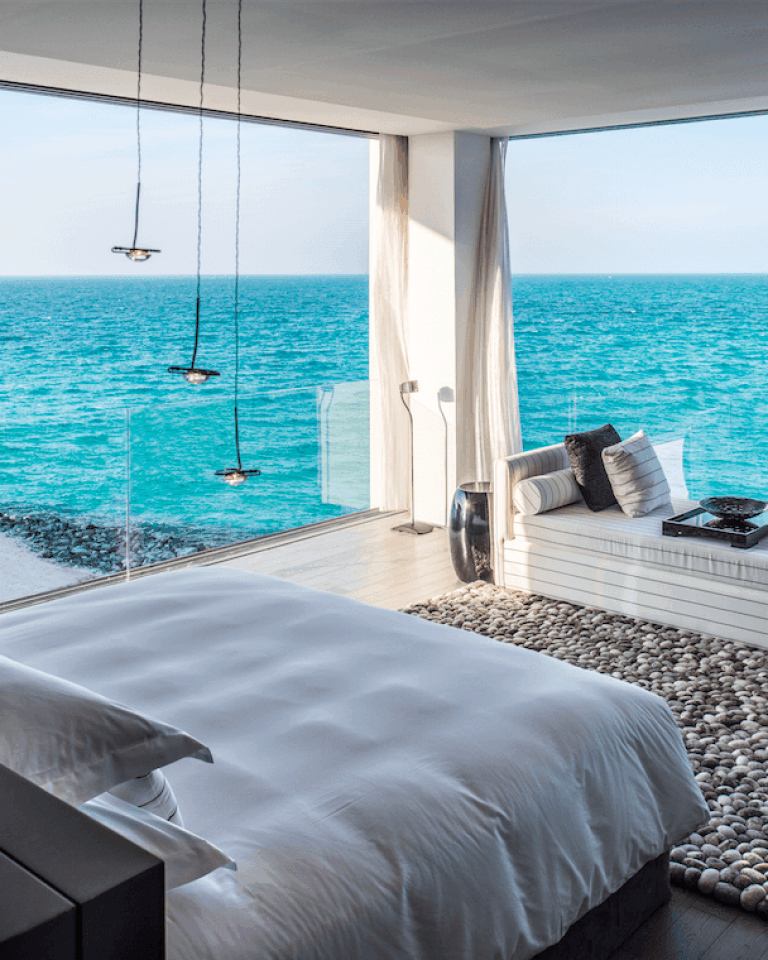 Water villa views