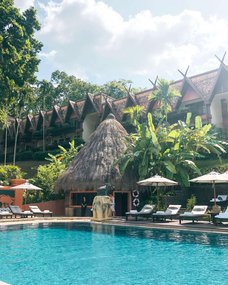 Anantara Golden Triangle pool view rooms
