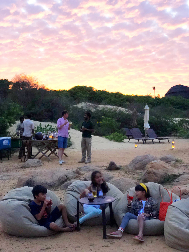 sundowners at Wild Coast Tented lodge