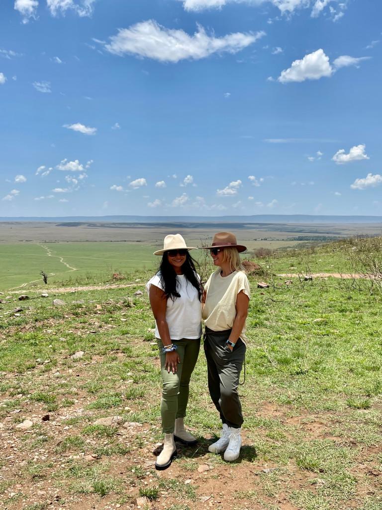 Serengti to my left and Masai Mara on my right