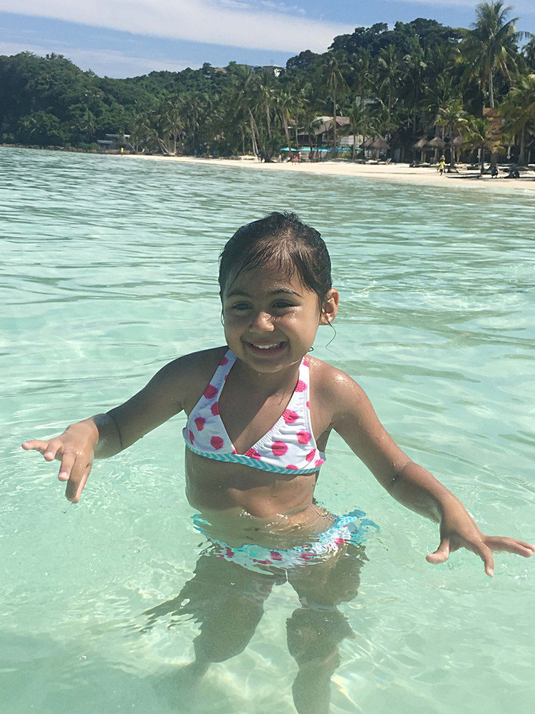 Amara taking a dip