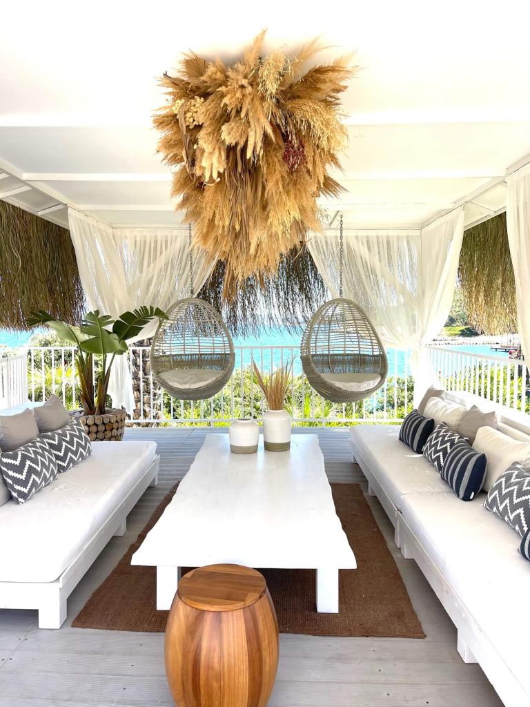 Stunning pool cabanas at Frankie Beach Club
