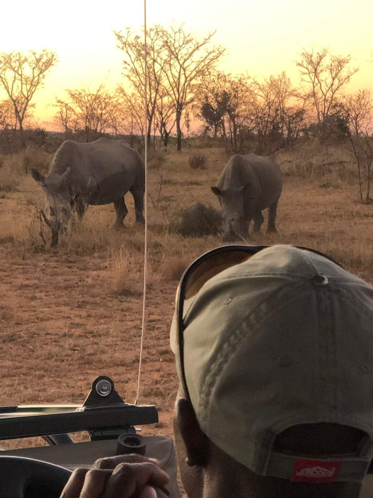 We got so close to Rhinos