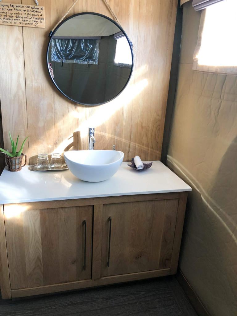 Master bathroom sink - side on each side