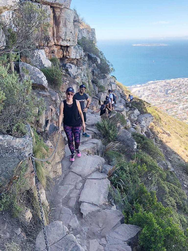 Walking up Lions Head