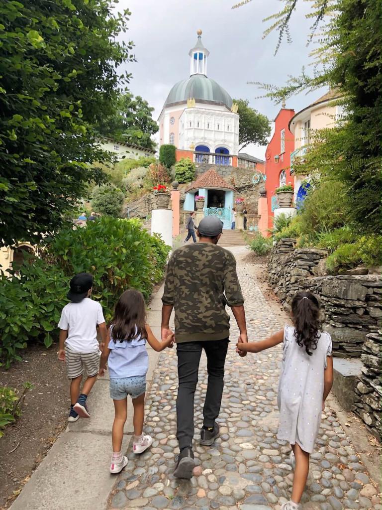Steep village walks