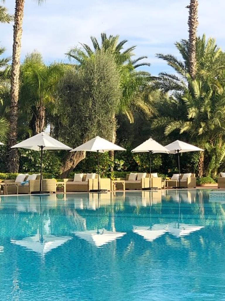 La Mamounia Pool reflections