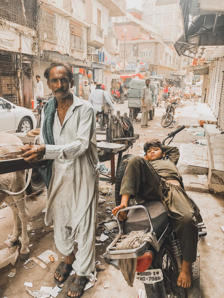 Taking a break, Karachi