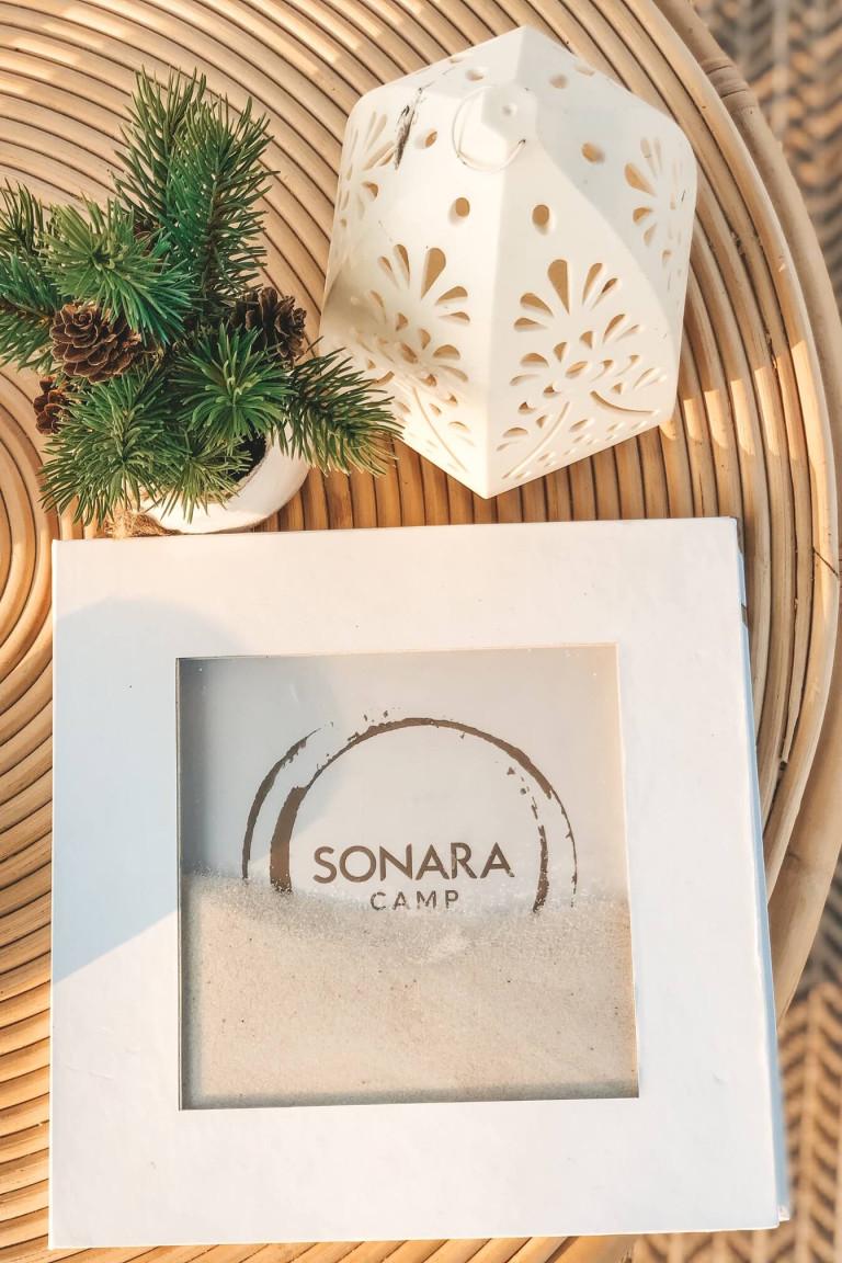 Sonara Camp drinks menu