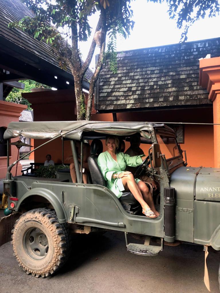 Anantara Elephant camp car