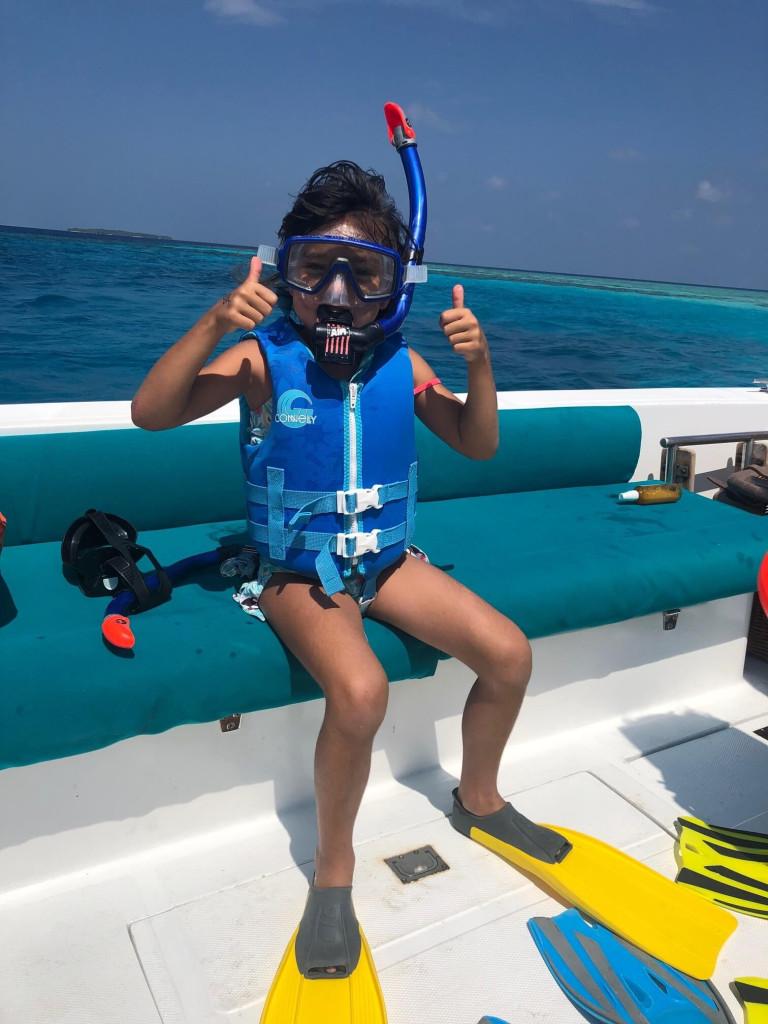 My littlest diver