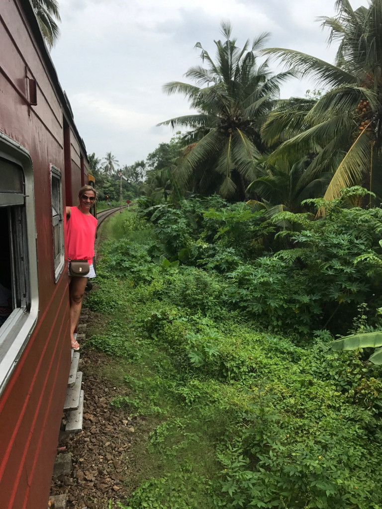 Train from Galle to Walligama station