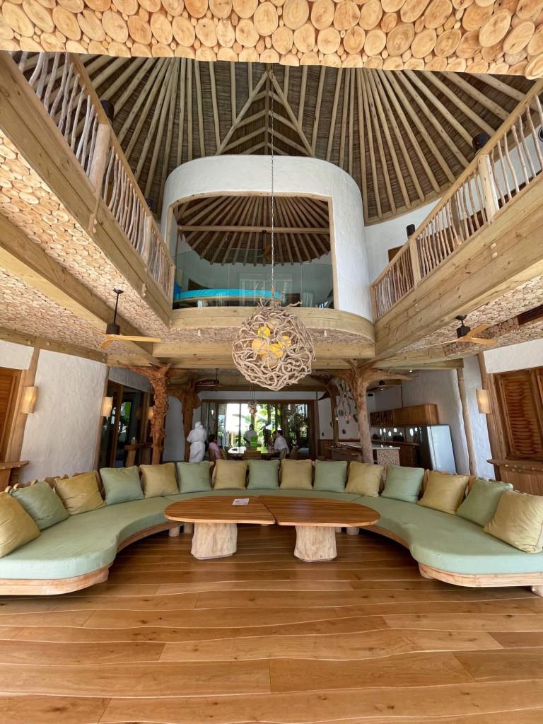 Living room in the 5 bedroom beach villa
