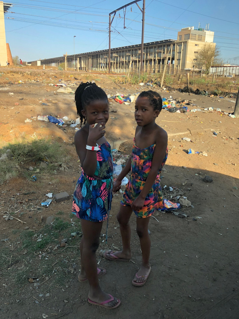 Young girls on the streets of Kliptown