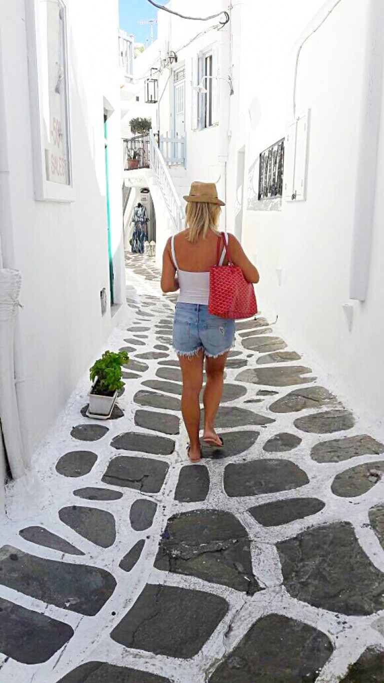 Exploring the streets of Mykonos