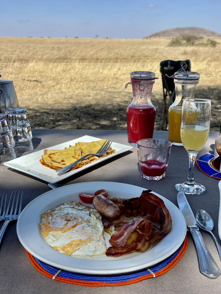 A real English breakfast in the bush