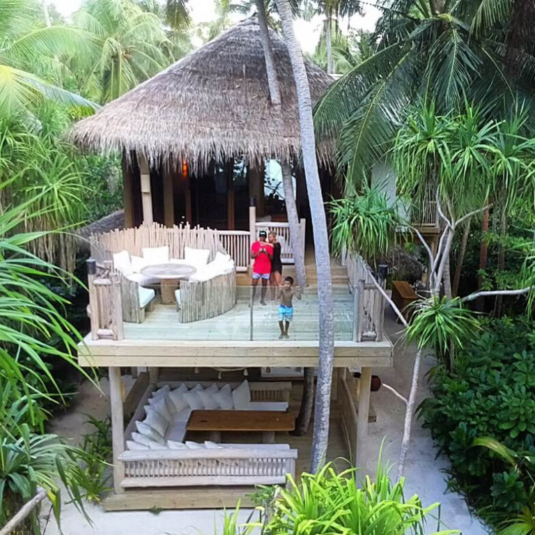 Our two bedroom villa Soneva Fushi