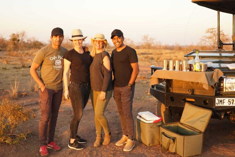 Yep.. its just us four for sundowners!!