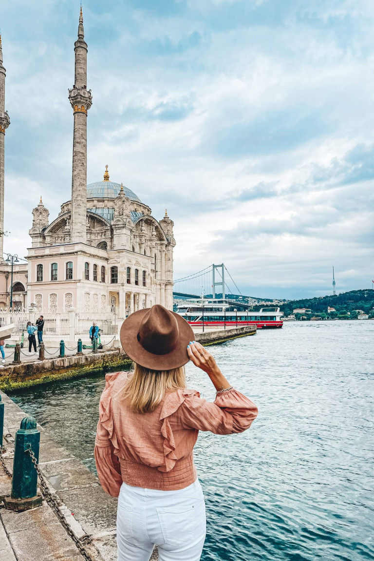 Ortakoy Mosque on the waters edge