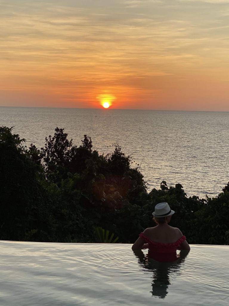 Sun set swims