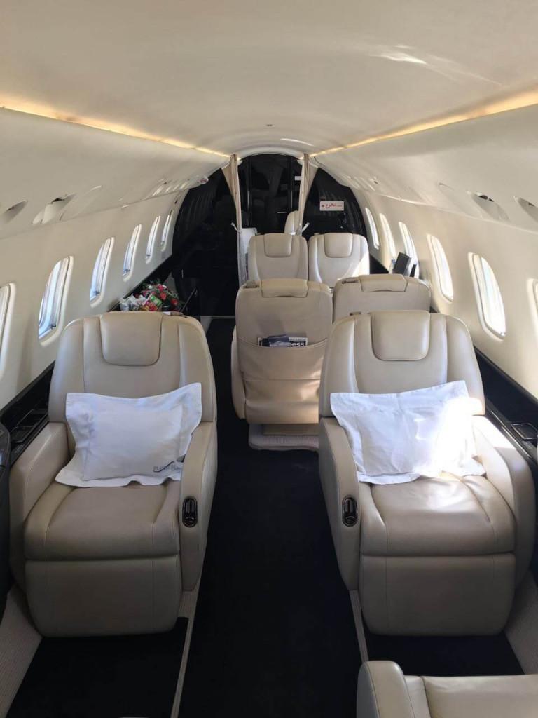 Legacy 650 cabin