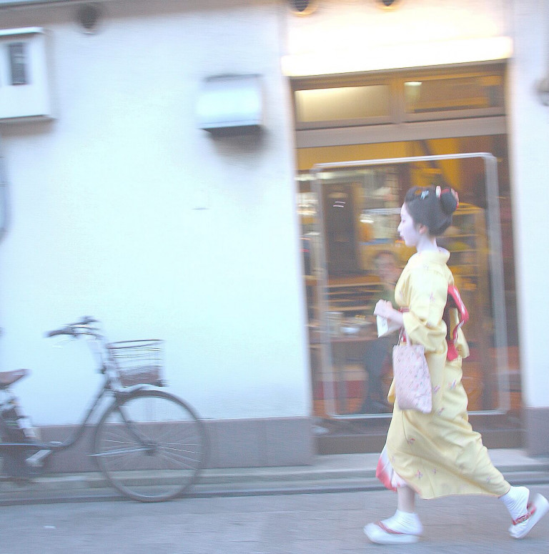 This is the actual geisha I chased to get a pic!