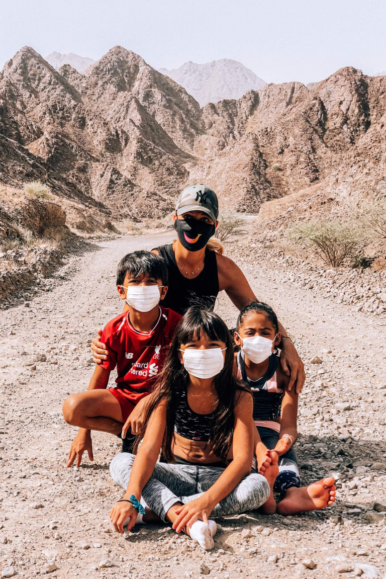 And we climbed it wearing masks