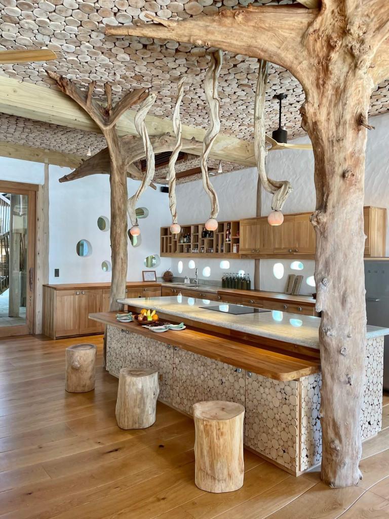 Kitchen area in the 5 bedroom beach villa