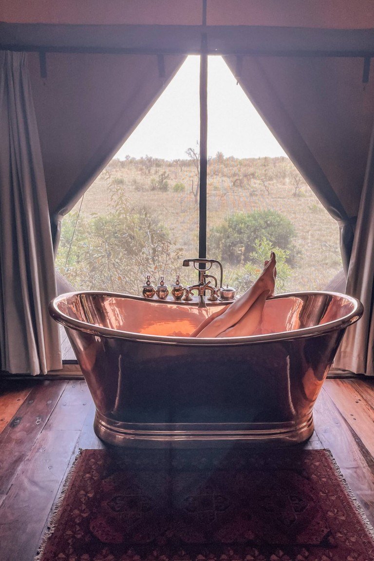 soaking in the tub!