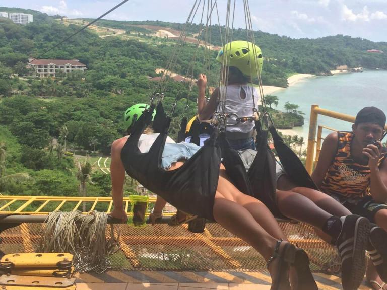 Zip lining in Boracay