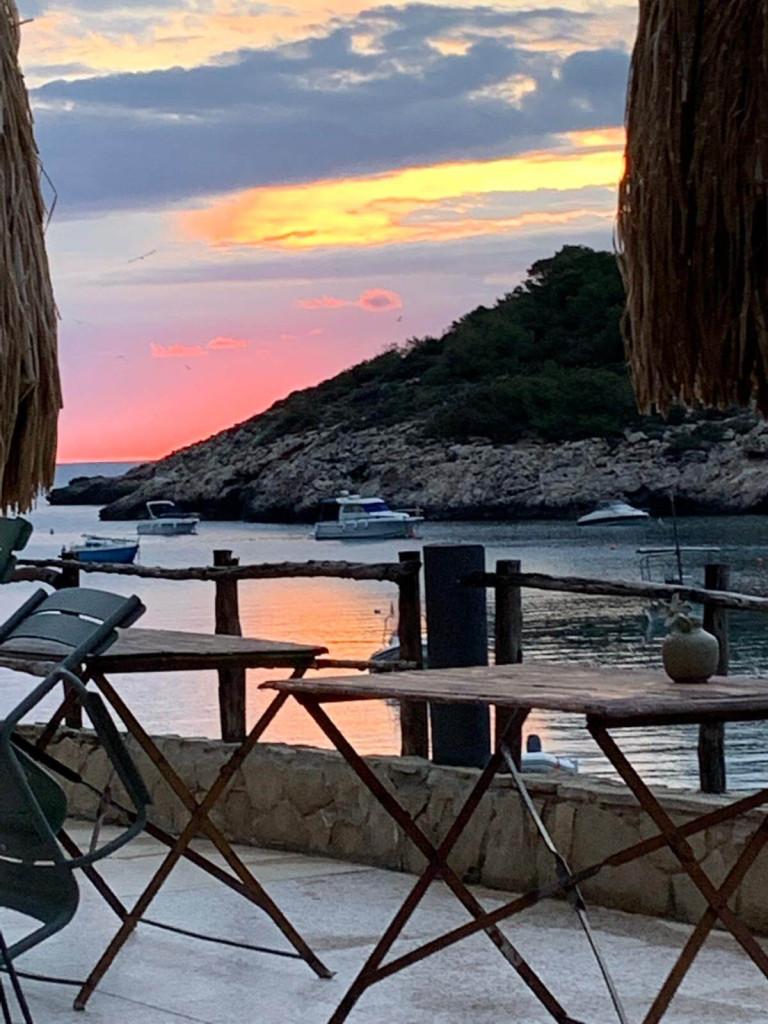 Sunset Los Enamorados Ibiza