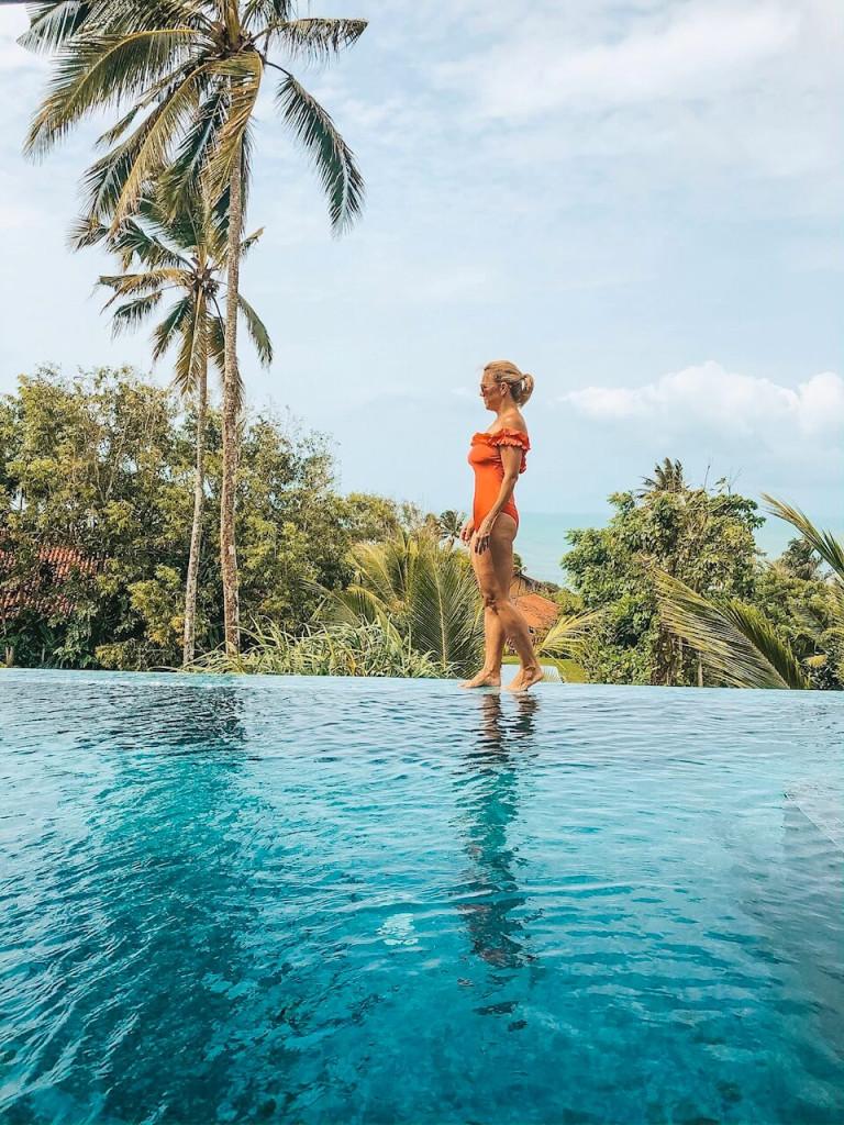 Villa pool views