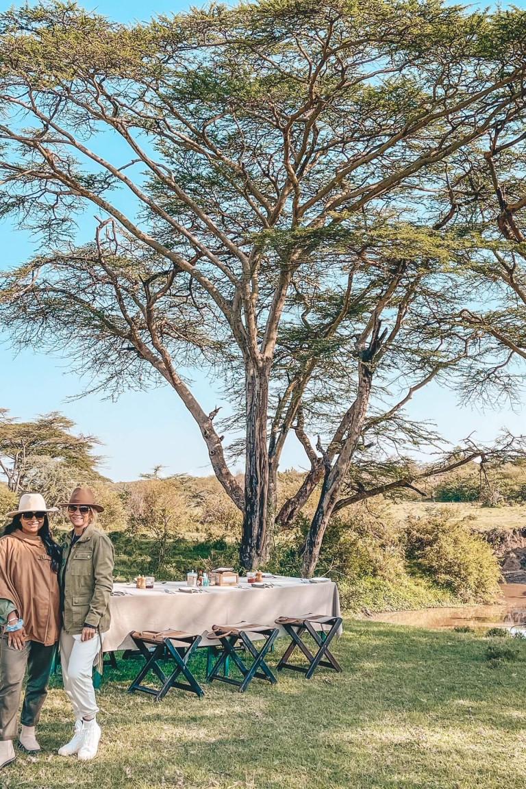 Our breakfast in the bush
