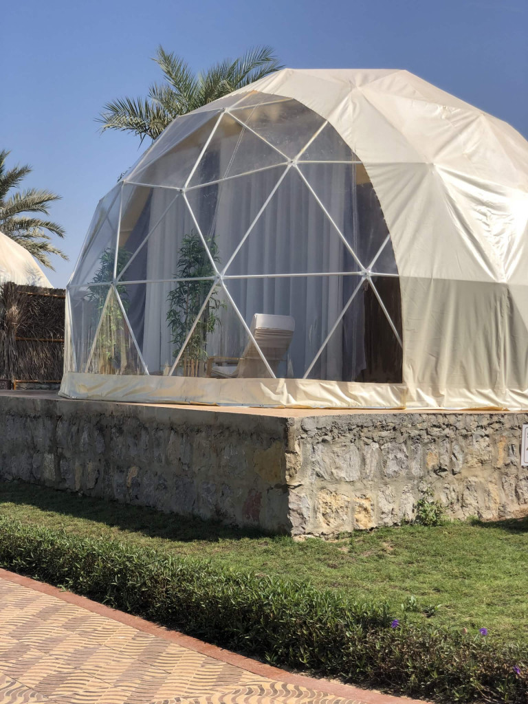 the dome tents