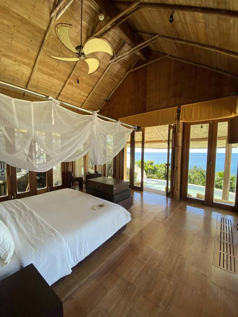 Master bedroom in the six bedroom villa