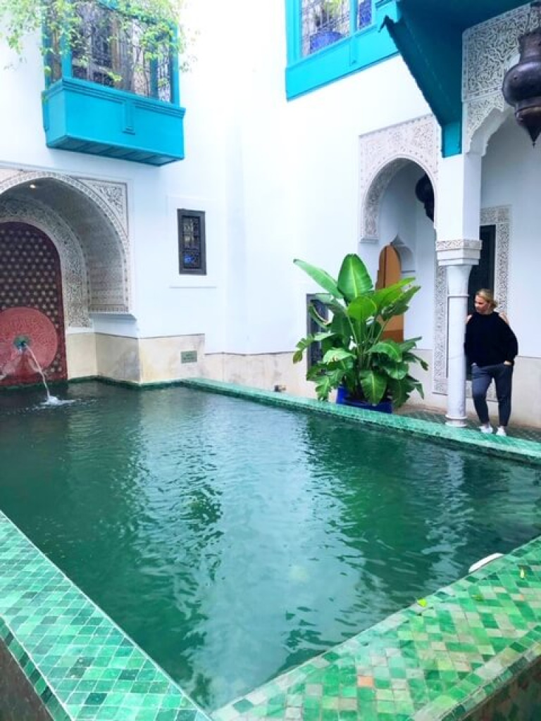 Emerald Green pool at Riad Farnatchi