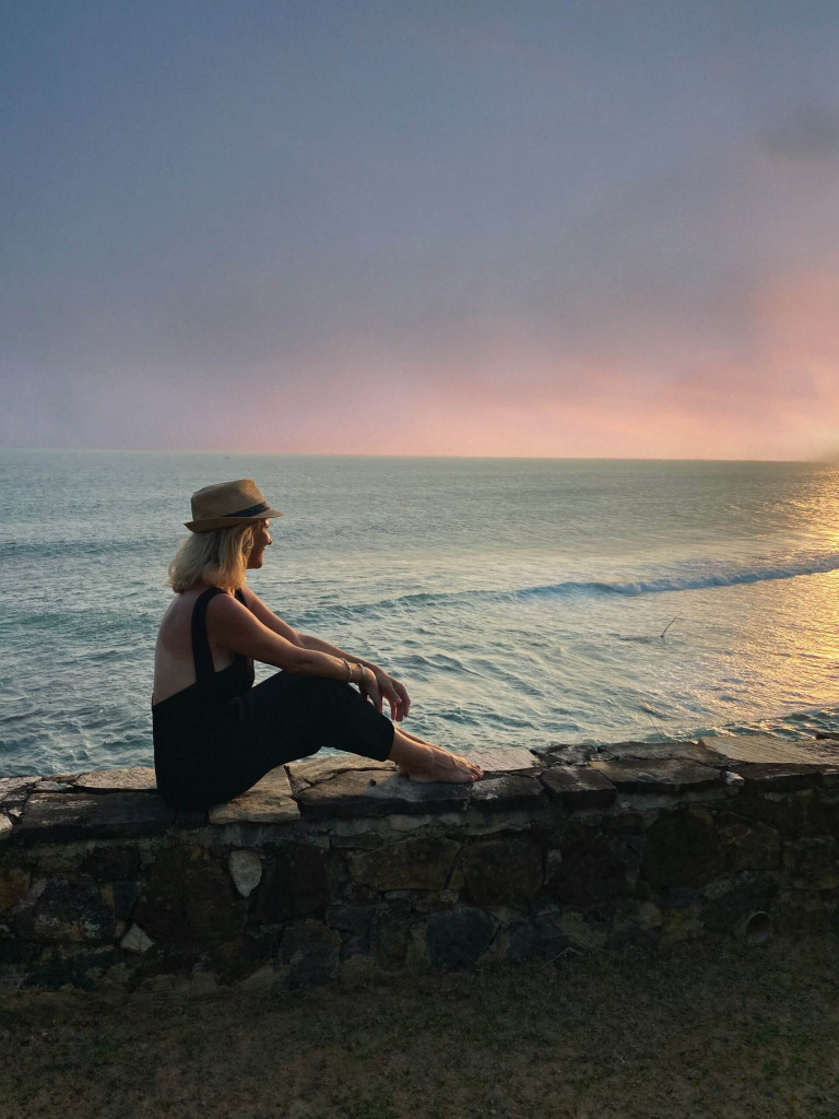 Contemplating at Cape Weligama