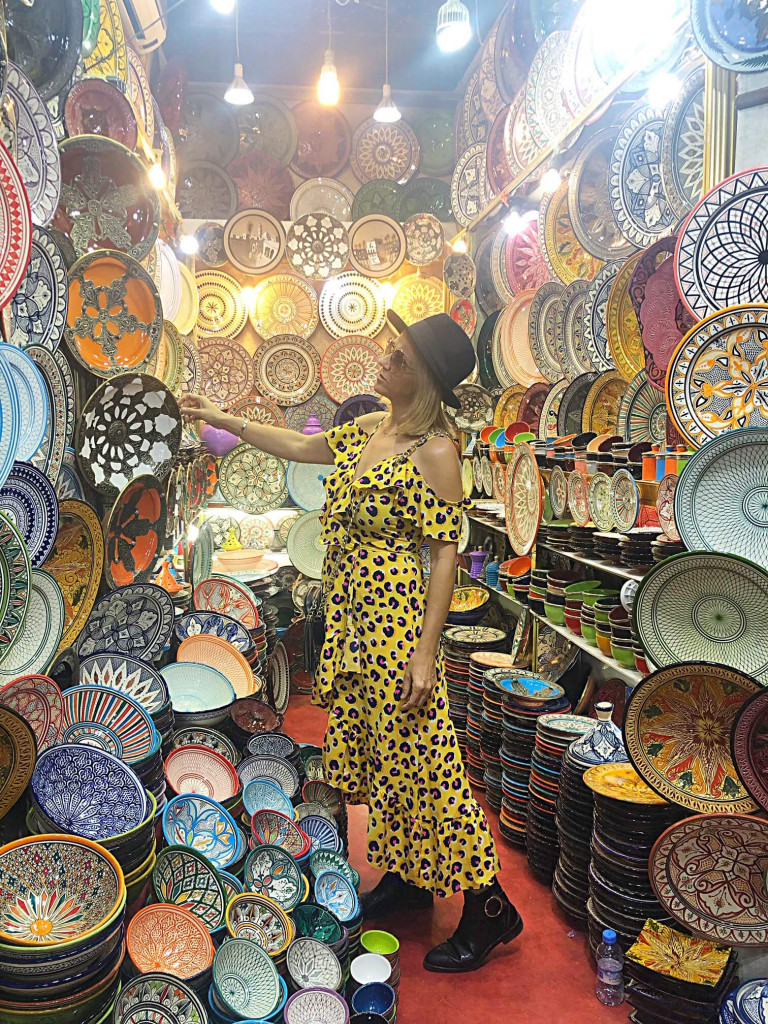 Plate stall inside the souk