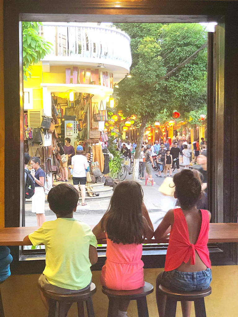 Looking out onto the streets of Hoi An