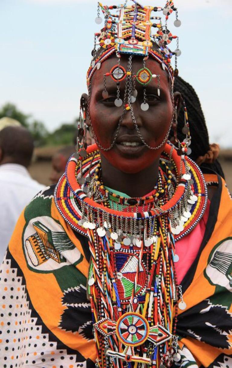 Fully dressed Masai Lady