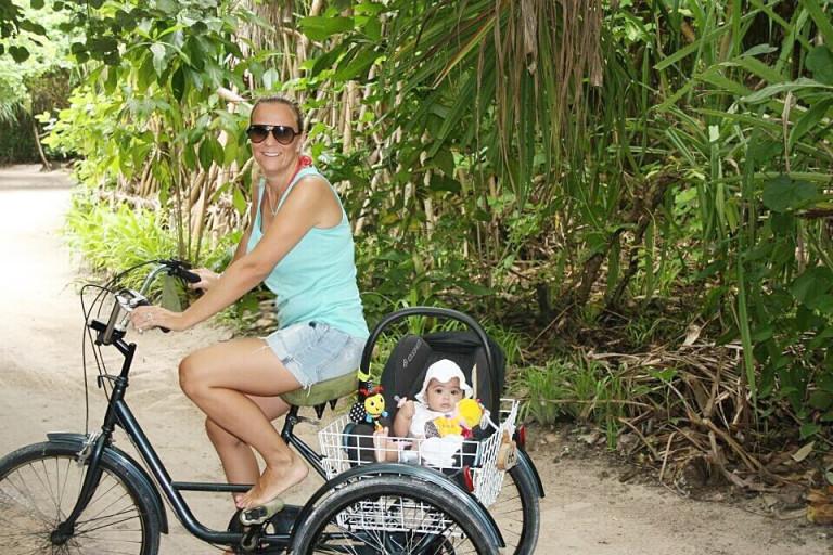 Riding around the island