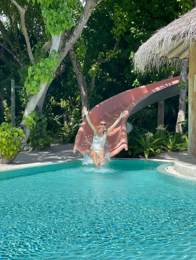 Sliding into island life at Soneva Fushi