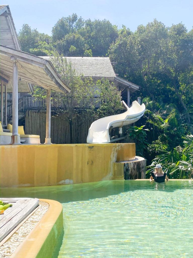 Large villas come with slides