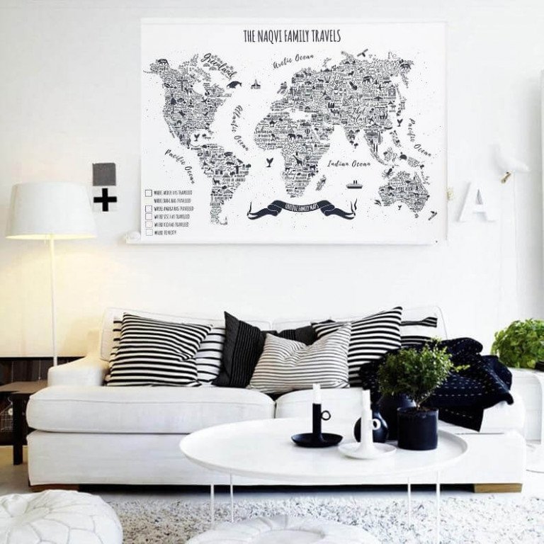 living room map